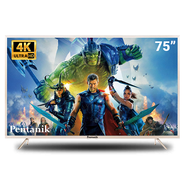Pentanik 75 Inch 4k Smart Android LED TV ( Model: 2019)