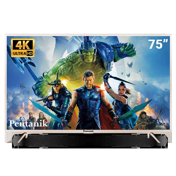 Pentanik 75 Inch 4k Smart Android LED TV ( Model: 2019)