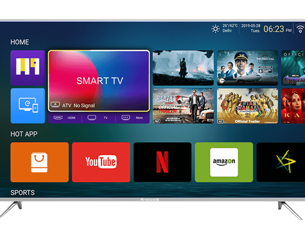 Pentanik 55 Inch Smart Android 4K Voice Control LED TV (2021)