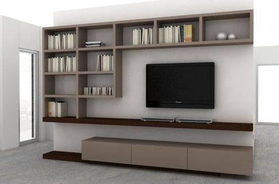 Suitable TV living Room Wall Mount Decorating Ideas in 2020 11