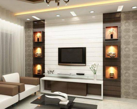 Suitable TV living Room Wall Mount Decorating Ideas in 2020 19