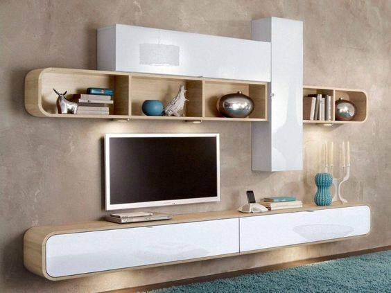Suitable TV living Room Wall Mount Decorating Ideas in 2020 18