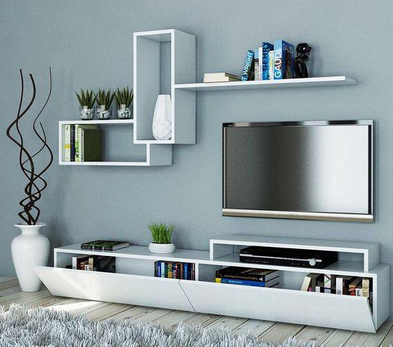 Suitable TV living Room Wall Mount Decorating Ideas in 2020 16