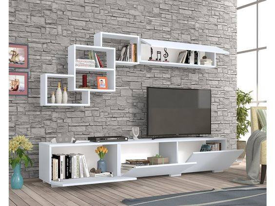 Suitable TV living Room Wall Mount Decorating Ideas in 2020 14