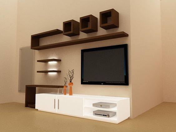 Suitable TV living Room Wall Mount Decorating Ideas in 2020 12