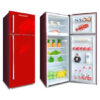 Pentanik Refrigerator 398L Glass Top-Mounted Double Door Fridge (Purple) 2