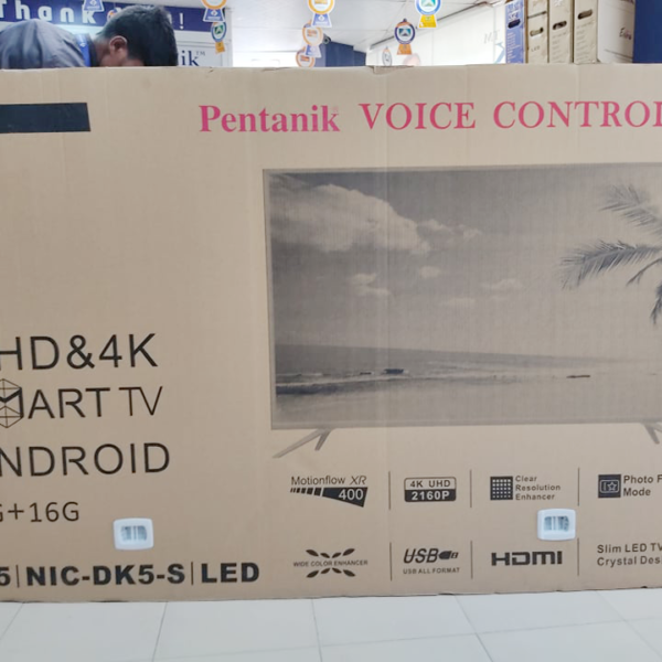 Pentanik 75 inch 4K ANDROID VOICE CONTROL TV