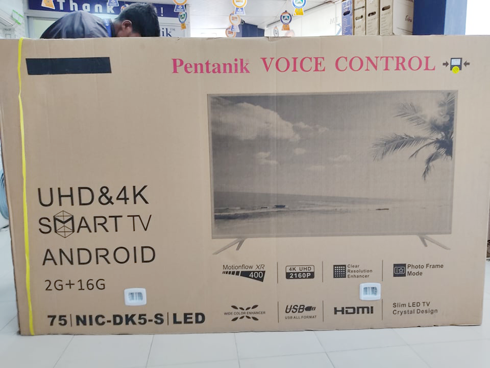 Pentanik 75 inch 4K ANDROID VOICE CONTROL TV 1
